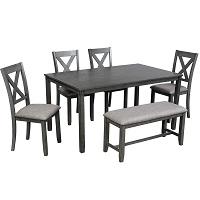 Best Of Best Grey 6 Piece Dining Set With Bench Rundown