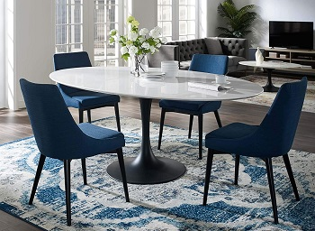 Best Of Best White Oval Dining Table For 6