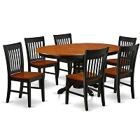 Best Two-Tone Round Dining Table Set For 6 With Leaf Rundown