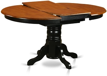 Best Two-Tone Round Dining Table Set For 6 With Leaf