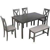 Best Wooden Farmhouse Dining Table Set For 6 Rundown