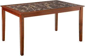 Best Wooden Faux Marble Dining Table With 6 Chairs