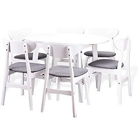 Best Wooden White Oval Dining Table Set For 6 Rundown