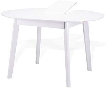 Best Wooden White Oval Dining Table Set For 6