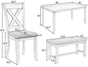 LUMISOLDining Room Table Set