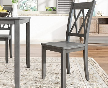 Merax Wooden Dining Table Set