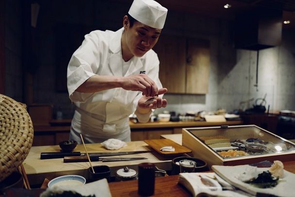 japanese chef in the kitchen
