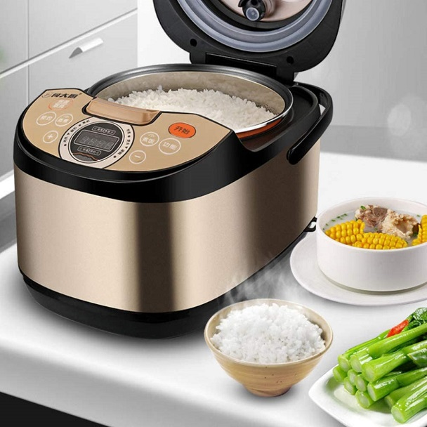 rice in the rice cooker